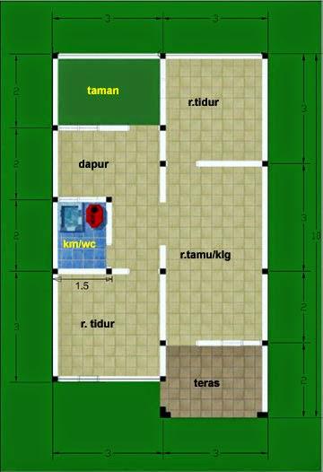 gambar desain rumah sederhana type 48 desain rumah