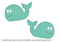 marionnette papier baleine