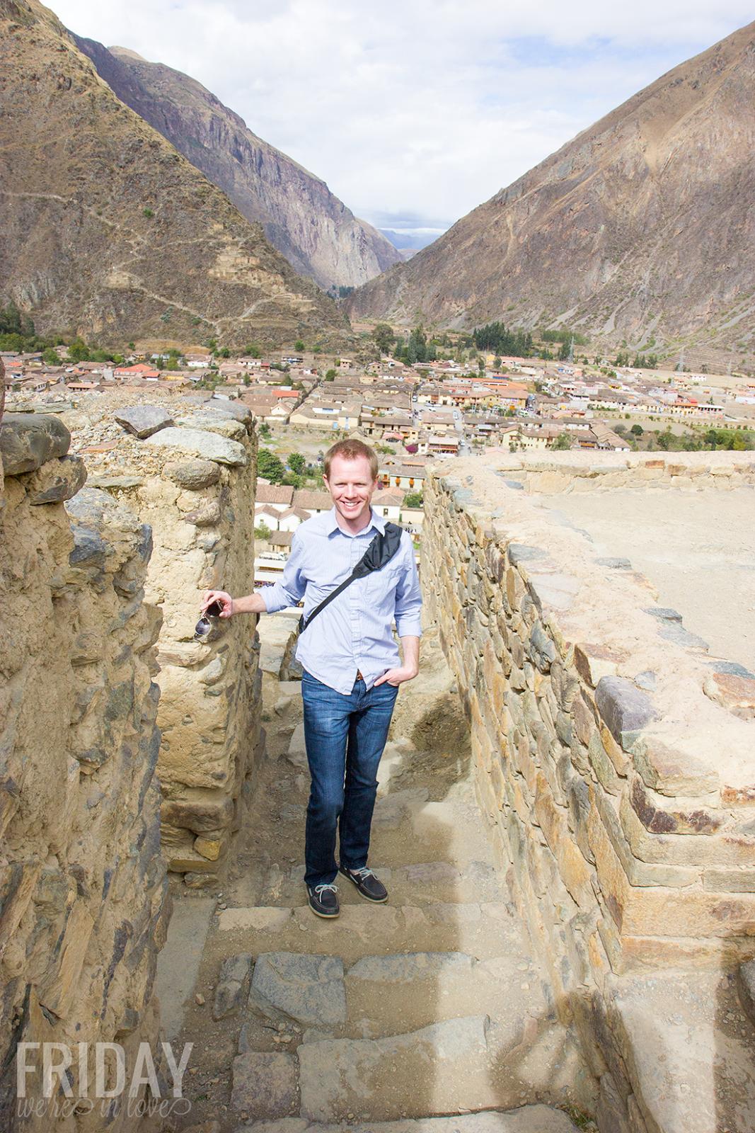Ruins in Ollantaytambo Peru