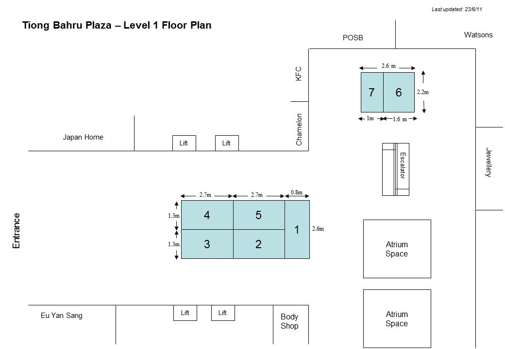 Solution to your marketing needs tiong bahru plaza for 1 level floor plans