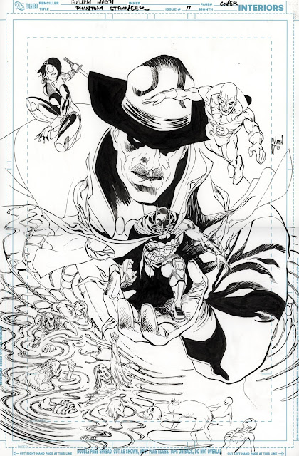 Making of the PHANTOM STRANGER 11 cover by Guillem March