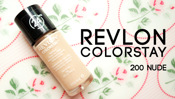 Revlon colorstay foundation 200 nude swatch review