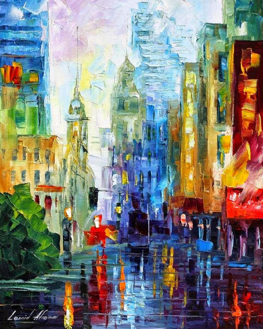 oleos-ciudades-abstractos-espatula