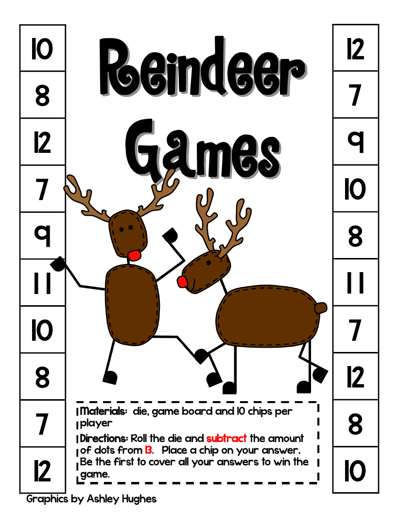 Day 1 of the 12 days of christmas fast math games