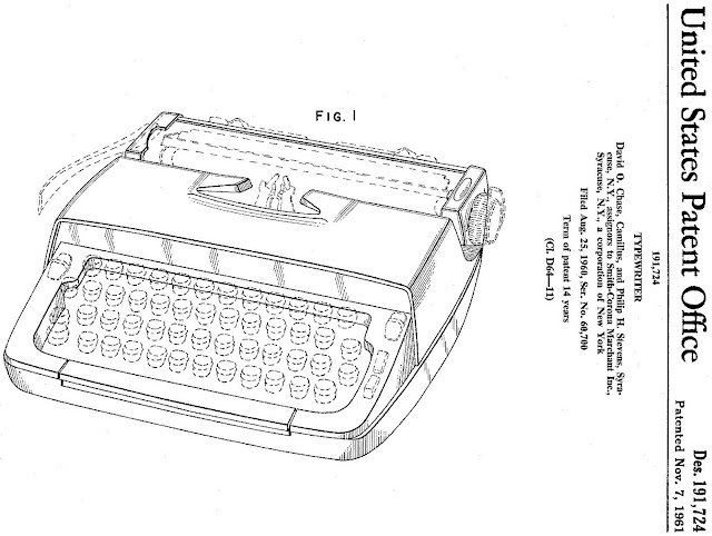 oz typewriter  made in england  and the us   scm portable typewriters of the 1960s