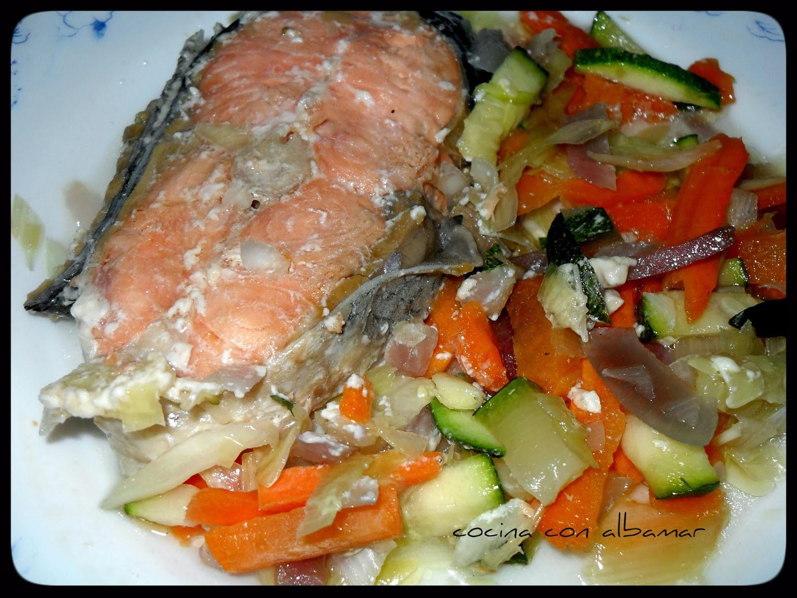 Salmon a la papillote for Formas de cocinar salmon