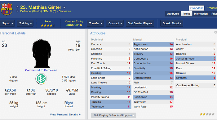 FM14 Mathias Ginter Freiburg