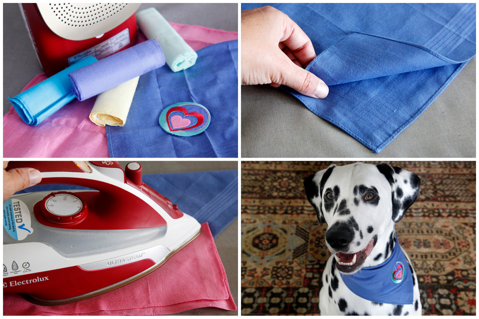 how to make dog bandanas no sew