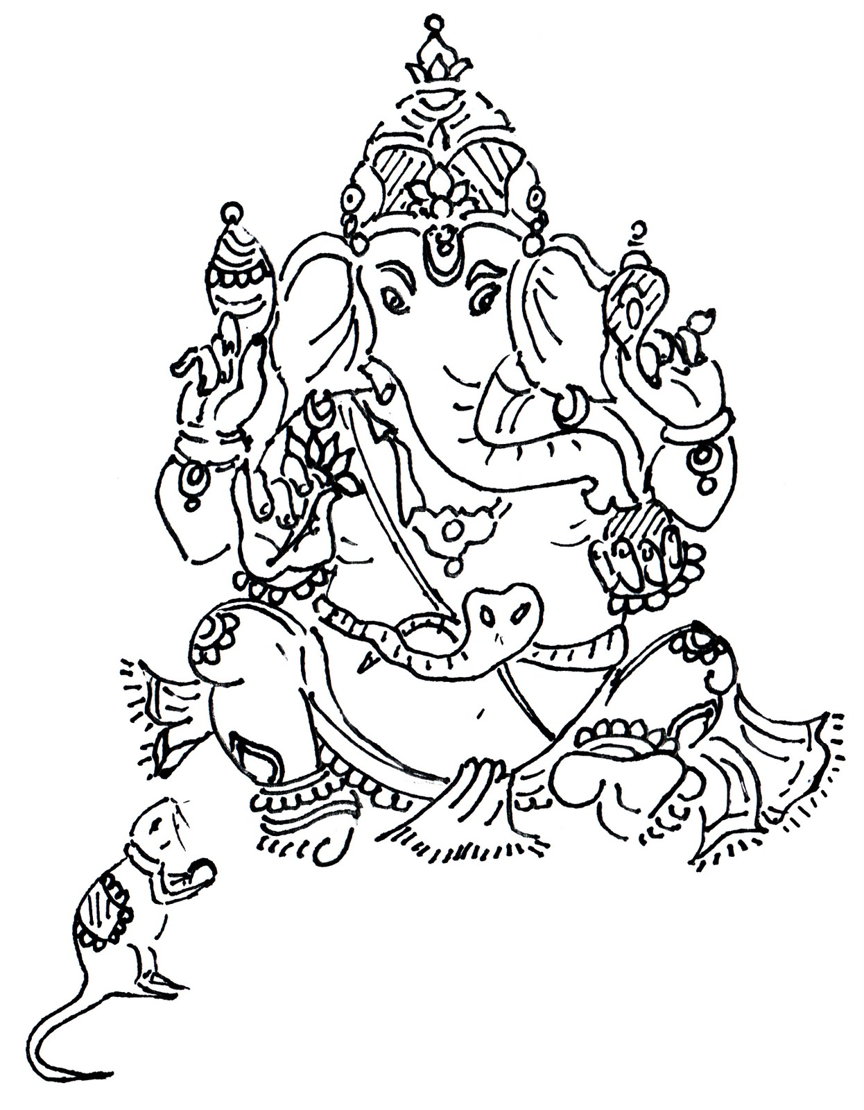Ganesh Line Drawing : Ganesh images for drawing joy studio design gallery