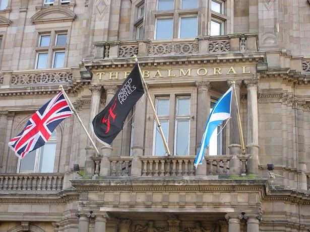 Balmoral Hotel in Edinburgh, Scotland