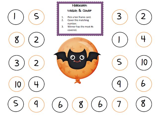 Grade ONEderful: Halloween Match and Cover Math Game