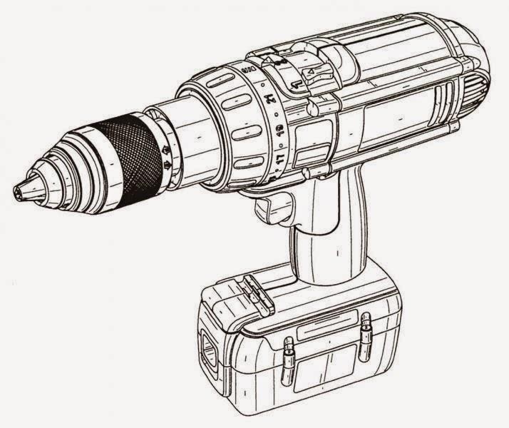 Diseño AutoCAD de un taladro inalambrico