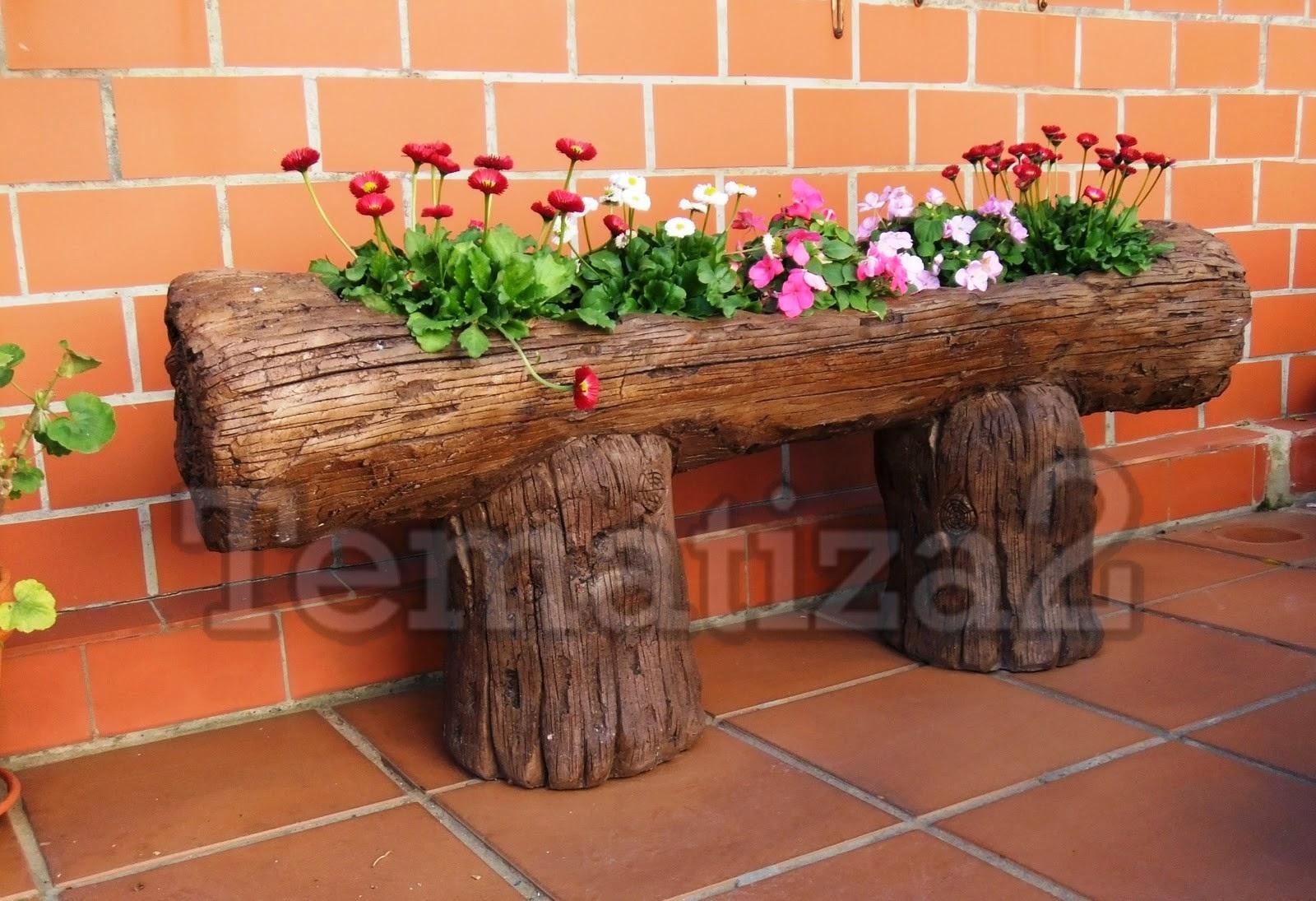 Tematiza 2 tronco jardinera - Troncos para jardin ...