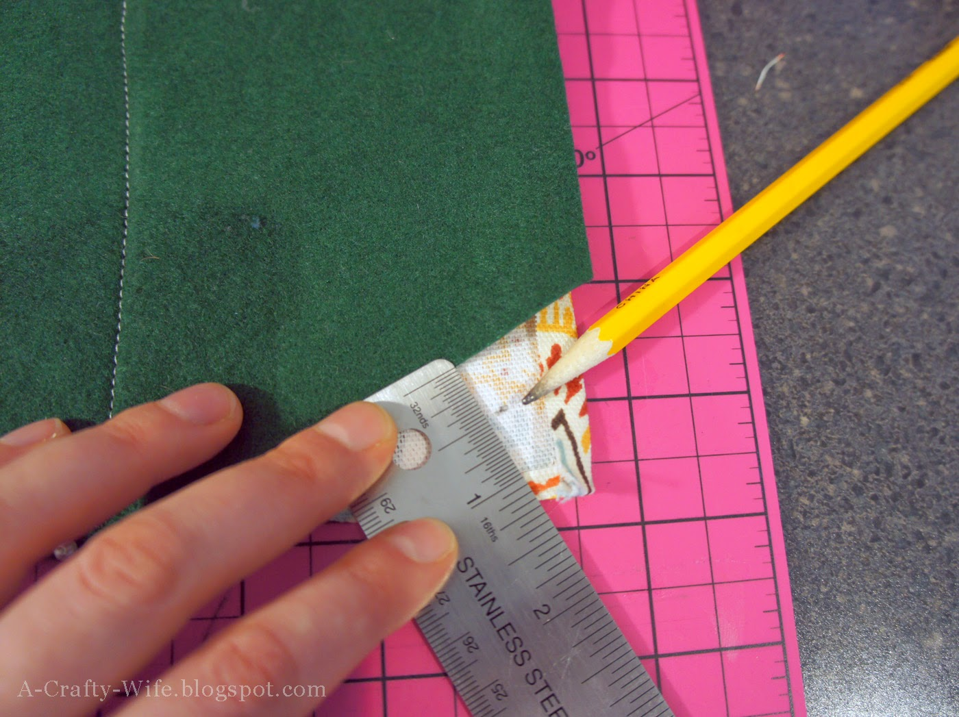 Use a ruler to mark your seam allowance | A Crafty Wife