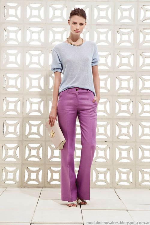 Moda pantalones oxford de verano 2015, Clara.