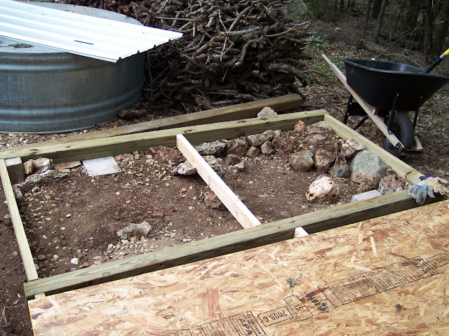 How to build a shed without floor