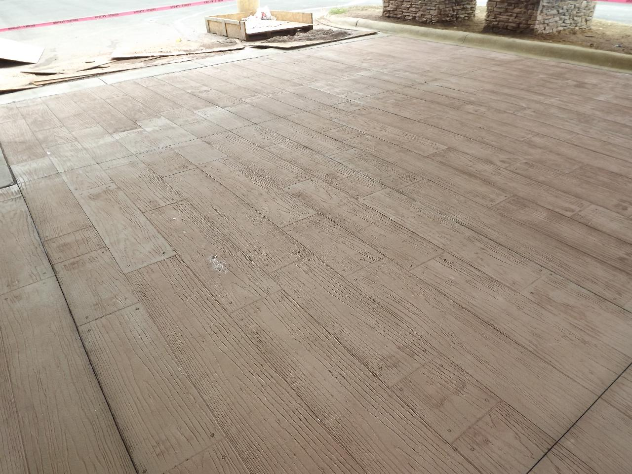 Wood Plank Stamped Concrete Floors : Atlantic coast concrete hampton inn greensboro wood plank