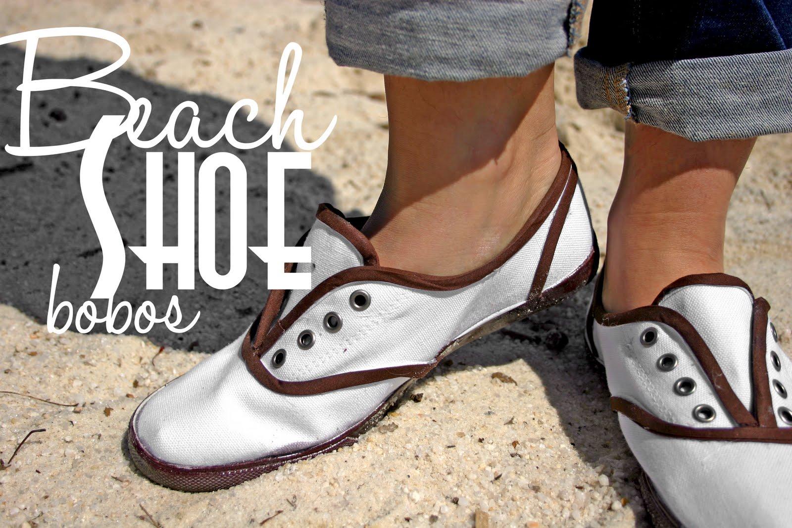 Grosgrain: DIY Bobos Into Beach Shoes