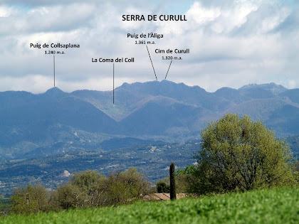 Panoràmica vers el nord des de molt a prop del mas Can Serrabou