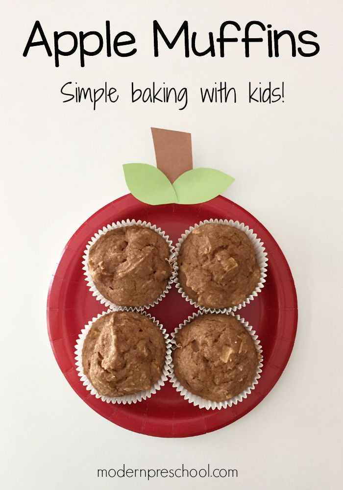 Baking Easy Apple Sauce Muffins With Kids Perfect For A Preschool Or Kindergarten Classroom From