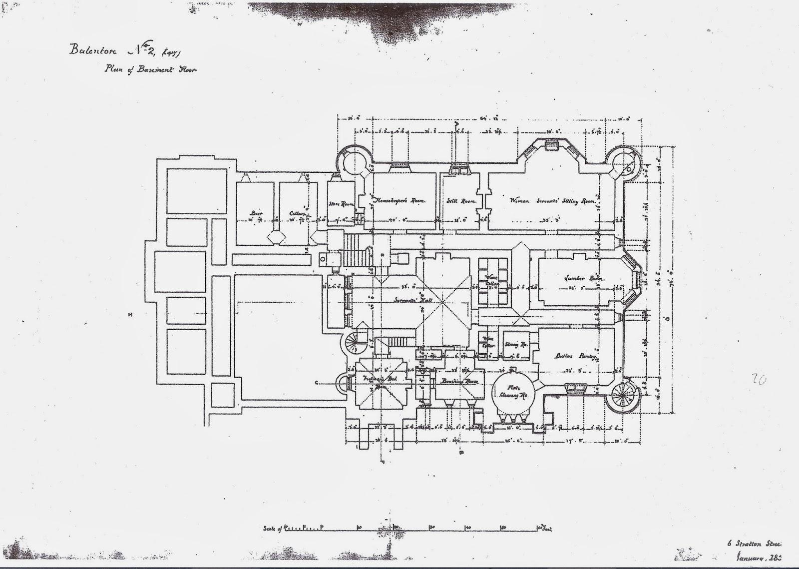 balintore castle restoration project november 2013 plan 2 basement floor