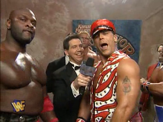 WWF / WWE SURVIVOR SERIES 95 - Shawn Michaels, Sid, Ahmed Johnson and British Bulldog were on the same team