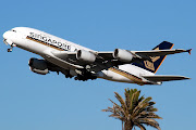 Singapore Airlines A380841 (c/n 010) 9VSKE departs Los Angeles . (apf vskedptlax)