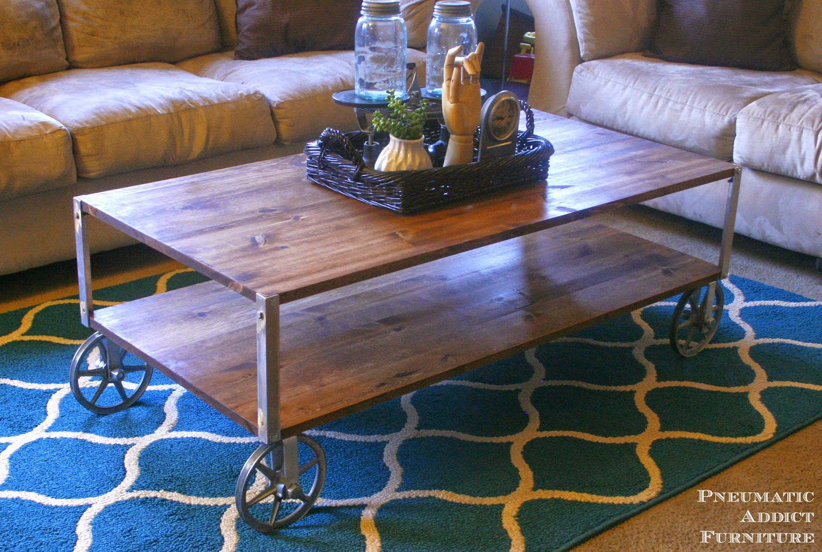 Easy DIY Industrial Coffee Table