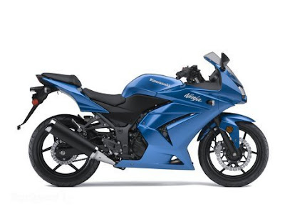 250cc Sport Motorcycle on Ninja 250 Green And Blue Color Is The Ninja Family Of Sport Bikes