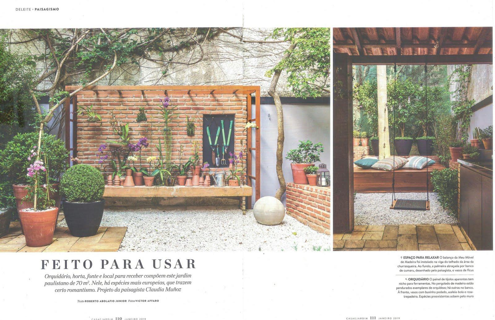 .Na edição de Janeiro da Casa e Jardim,teve uma matéria linda de um trabalho meu (6 lindas págs.)