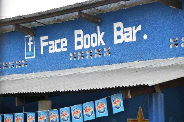 Bar com nome do Facebook em Ruanda, na África