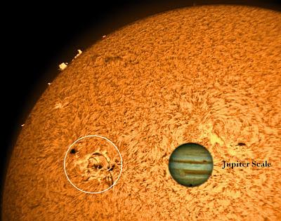 MANCHA SOLAR 1654, 12 DE ENERO 2012