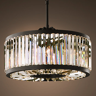 Restoration Hardware Welles Clear Crystal Chandelier