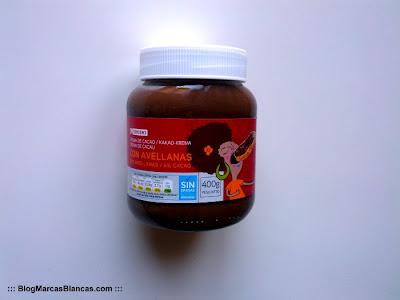 Crema de cacao con avellanas EROSKI