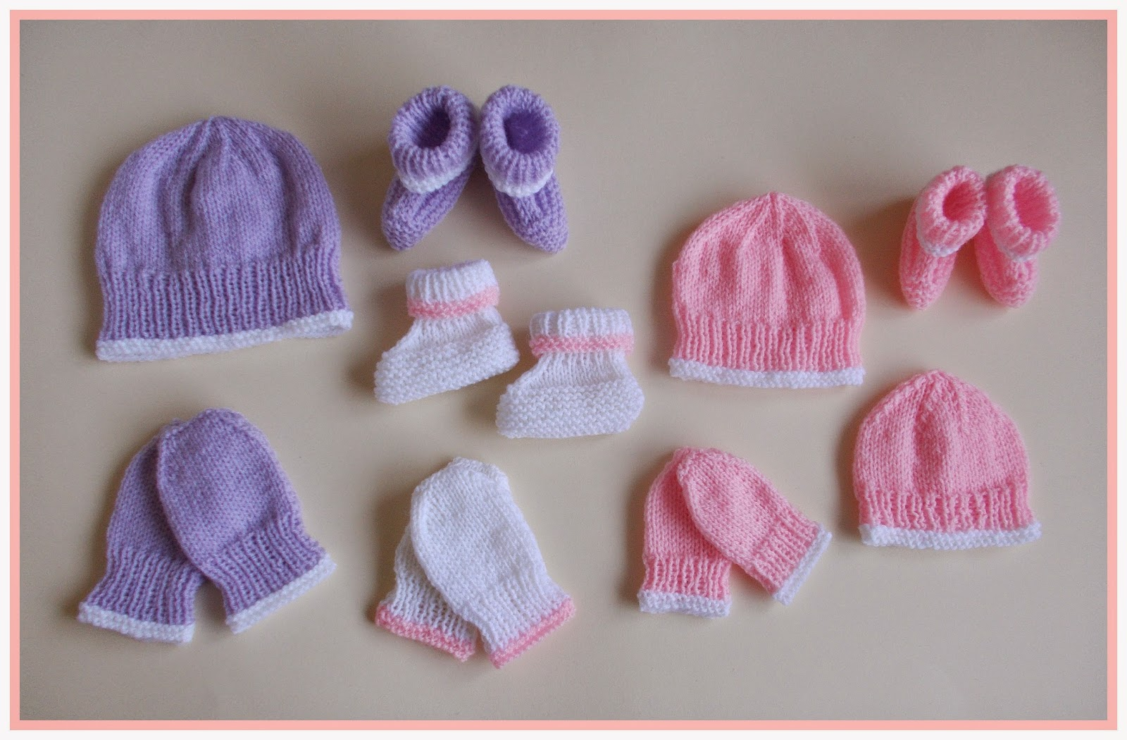 Knitting Patterns For Baby Mittens And Booties : mariannas lazy daisy days: Premature & Newborn Baby Hat, Mittens &am...