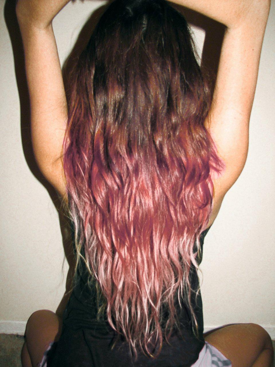 puntas+del+pelo+rosado+nuevo+look