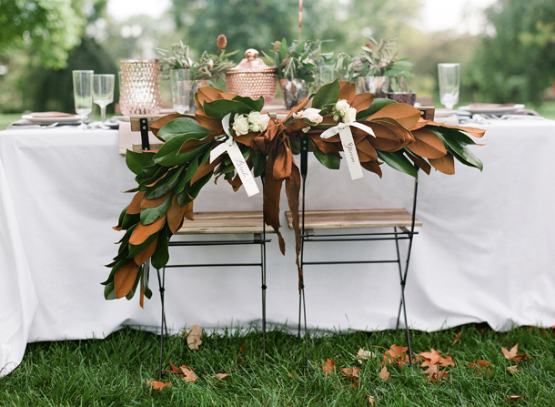 Crazy for Copper Wedding Details