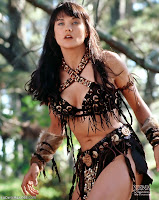 Lucy Lawless as Xena, warrior princess