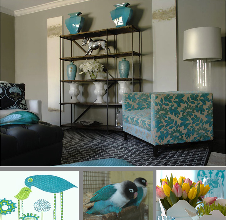 Turquoise Living Room Design Classy Turquoise Living Room With ...