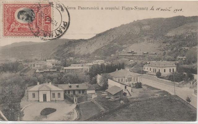 Vedere panoramica a orasului Piatra Neamt de odinioara