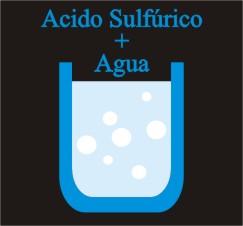 acido sulfúrico mas agua