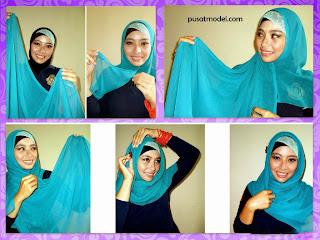 Cara memakai hijab pahmina dian pelangi