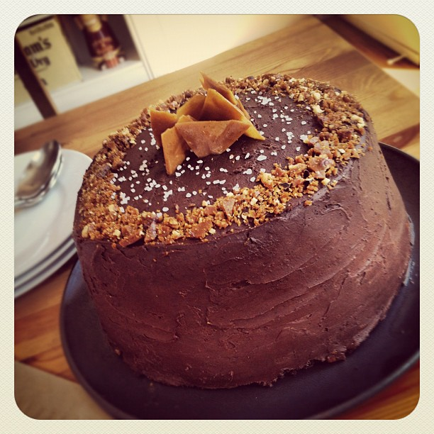 Salted Caramel Six-Layer Chocolate Cake with Hazelnut Brittle | Shit ...