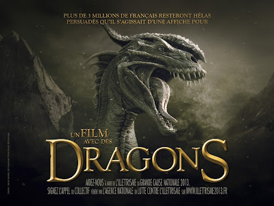 street marketing, illetrisme, affiche de film, fond d'écran dragon, image dragon