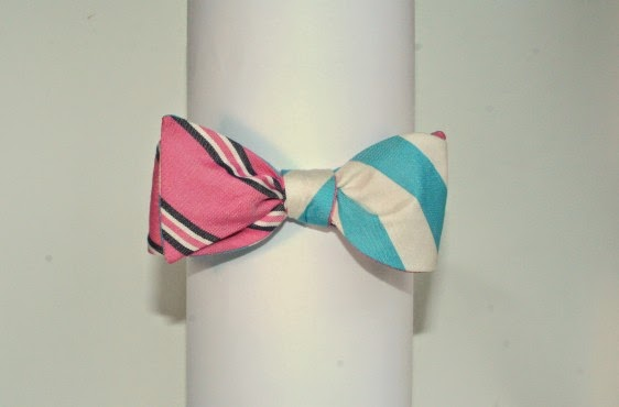 Social Primer Reversible Aqua/Pink/Navy Cotton Repp Stripe