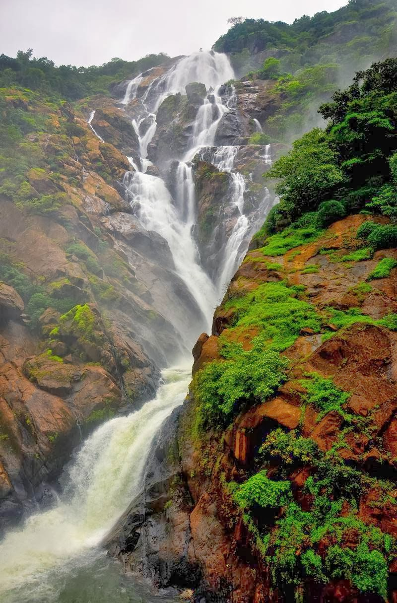 Dudhsagar Falls at Goa - Railway Track