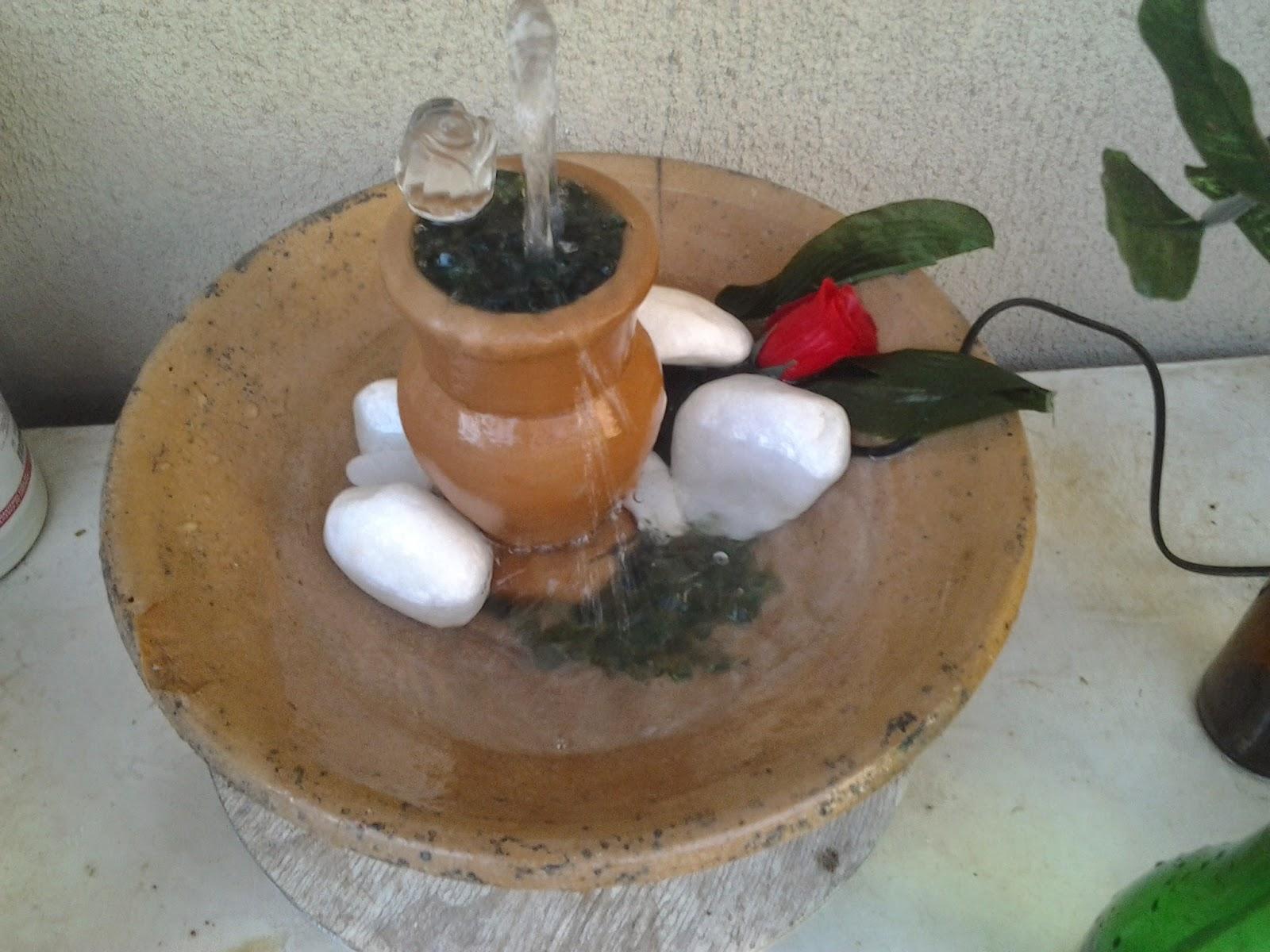 Fonte de água personalizada