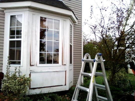 Nj Home Improvement Blog Bay Window Wood Trim Replacement With Azek