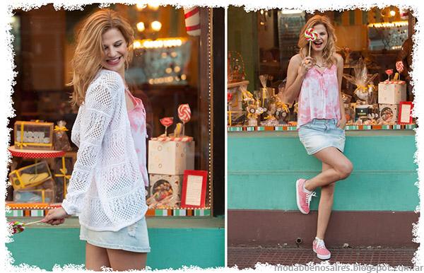 Sacos tejidos livianos en looks verano 2015 Doll Fins.