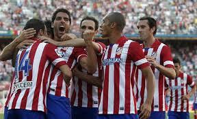 Atlético de Madrid, celebrando un gol